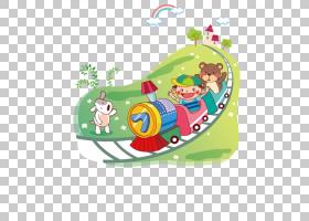火车儿童卡通,熊火车PNG剪贴画漫画,绘画,运输,铁路,火车