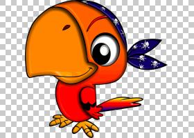 海盗鹦鹉海盗行为,可爱的鹦鹉文件PNG剪贴画动物,橙色,脊椎动物,