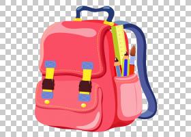 袋学校书包背包在线购物,学校背包,粉红色背包动画PNG剪贴画橙色,