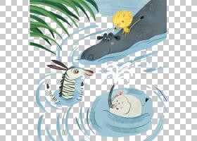 河马大象,马戏团大象画河PNG剪贴画水彩画,杂项,海洋哺乳动物,哺