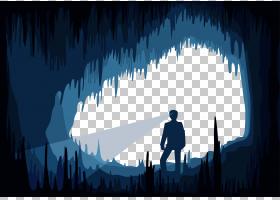 洞欧几里德,人们在洞穴PNG剪贴画电脑壁纸,世界,摇滚,卡通,剪影,