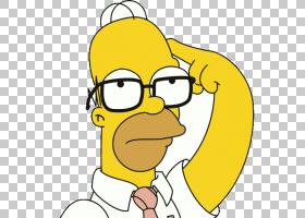 荷马辛普森玛奇辛普森巴特辛普森D哦!,Homero PNG剪贴画食物,文