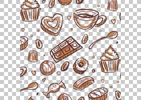 蛋糕巧克力棒巧克力蛋糕甜甜圈松饼,巧克力牛奶材料PNG剪贴画食品