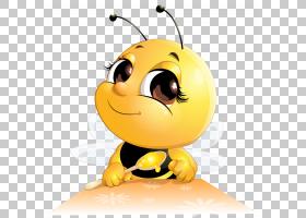 蜂蜜蜂蜜蜂卡通,蜂蜜餐PNG剪贴画食品,橙色,蜂蜜罐子,电脑壁纸,笑