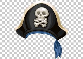 海盗帽,卡通手绘帽子PNG剪贴画水彩画,快乐罗杰,封装的PostScript