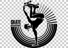 滑板半,管,滑板青年PNG剪贴画海报,单色,男孩,插画,贴纸,卡通,体