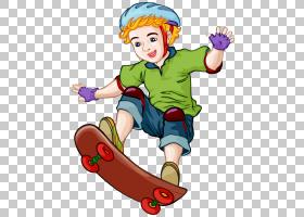 滑板卡通,滑板男孩PNG剪贴画漫画,儿童,食品,运动,手,蹒跚学步,男