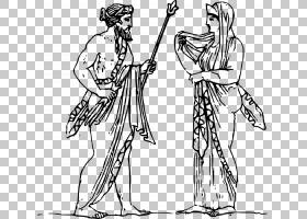 赫拉宙斯回声希腊神话,宙斯的PNG剪贴画白色,手,单色,人类,运动器