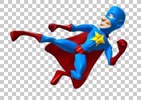 超人超级英雄皇家,超人在杂技踢PNG剪贴画漫画,3D计算机图形学,英