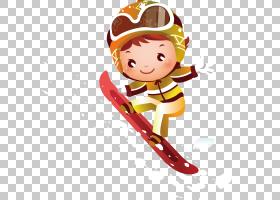 滑雪儿童,困难的滑雪PNG剪贴画运动,虚构人物,卡通,滑雪板,矢量字