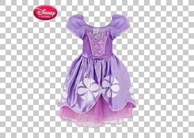 迪士尼公主华特迪士尼公司,迪士尼紫色公主裙PNG剪贴画紫色,紫罗