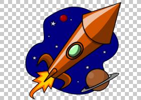 火箭飞船,火箭船PNG剪贴画橙色,卡通,外太空,车辆,网站,艺术,stoc