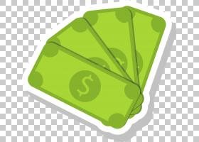钞票动画卡通绘图,绿色卡通钞票PNG剪贴画卡通人物,叶,矩形,装饰,