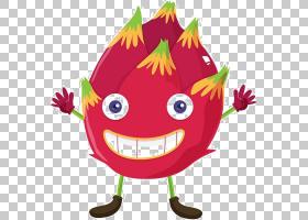 火龙果热带水果,卡通表达龙果实材料PNG剪贴画卡通人物,食品,叶,