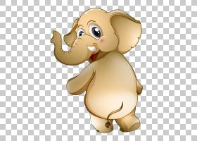 非洲大象卡通,长鼻子大象PNG剪贴画哺乳动物,猫像哺乳动物,食肉动