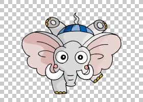非洲大象婴儿亚洲大象儿童,世界四腿动物大象推翻了PNG剪贴画徽标