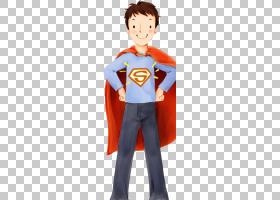 父亲节父亲祈祷,超人PNG剪贴画孩子,英雄,超级英雄,男孩,虚构人物