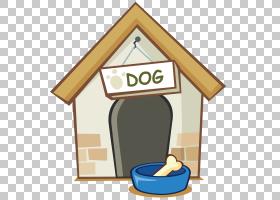 狗小狗动画片图画,动画片狗房子PNG clipart卡通人物,角,建筑,宠