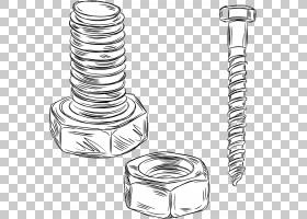 螺栓拉丝螺母,螺丝螺母PNG剪贴画角,坚果,摄影,技术,单色,卡通,版