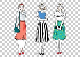 裙子女孩卡通女人,性感的女孩PNG剪贴画水彩画,紫色,漫画,白,时尚