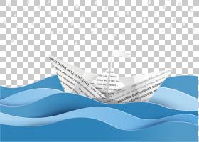 纸欧几里德,波浪和纸船PNG剪贴画蓝色,角,文本,计算机壁纸,生日快