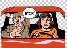 驾驶波普艺术版税,驾驶人PNG剪贴画漫画,png图形,文本,摄影,人,海