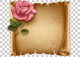 纸滚动,鲜花背景PNG剪贴画画,手,卡通,花卉,封装PostScript,免版