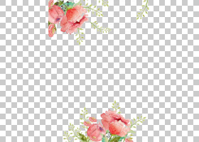 纸花水彩画,鲜花背景,粉红色的花卉画PNG剪贴画插花,心,纺织,分支