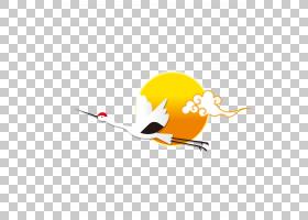 丹顶鹤,起重机PNG剪贴画橙色,技术,计算机壁纸,脊椎动物,卡通,封