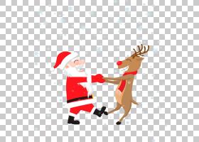 鲁道夫圣诞老人婚礼邀请圣诞节贺卡,有麋PNG clipart的圣诞老人哺