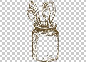 线艺术食物图画匙子,匙子PNG clipart材料,木勺,美食,卡通勺子,勺