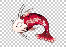 鲤鱼鱼,鱼PNG剪贴画动物,跳跃鱼,头,水族馆鱼,卡通,虚构人物,梦想