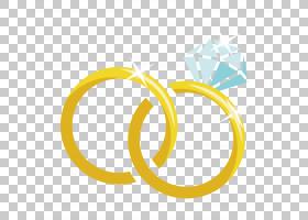 结婚戒指婚姻,卡通材料钻石结婚戒指,金色戒指与钻石PNG剪贴画卡