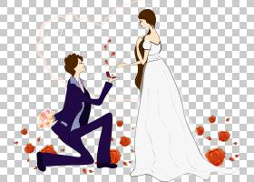 结婚提议,提出卡通人PNG剪贴画爱,卡通人物,摄影,婚礼,人民,友谊,
