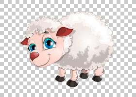 绵羊牛,绵羊PNG剪贴画哺乳动物,动物,脊椎动物,计算机壁纸,卡通,