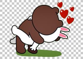 贴纸行朋友消息应用程序棕熊,行PNG剪贴画哺乳动物,食品,食肉动物