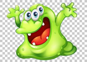绿泥怪物,细菌PNG剪贴画摄影,脊椎动物,草,卡通,royaltyfree,树青