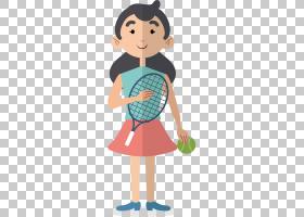 网球女孩欧几里得,打网球PNG剪贴画的女孩孩子,时尚女孩,手,蹒跚