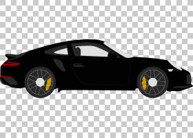 跑车合金轮胎轮胎特斯拉跑车,卡通黑色Coupe PNG剪贴画卡通人物,