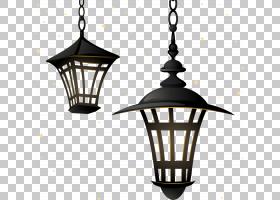 路灯照明枝形吊灯,复古路灯PNG剪贴画灯具,灯笼,灯,复古,生日快乐