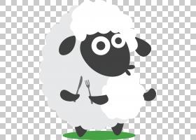 羊Eid al-Adha开斋节假期开斋节Mubarak,开斋节白色卡通羊,白羊抱
