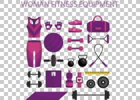 运动器材健身中心体育锻炼身体健康图标,女性健身器材和健身器材