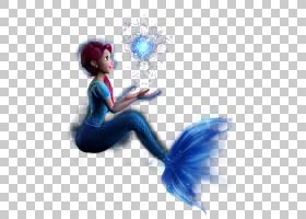美人鱼尾巴,美人鱼PNG剪贴画蓝色,电脑壁纸,卡通,虚构人物,封装的