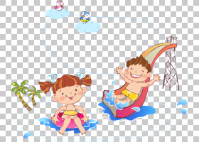 儿童水彩画卡通,卡通儿童坐幻灯片PNG剪贴画卡通人物,漫画,人,儿