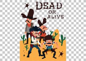 美国边境牛仔图标,猎人沙漠亨特PNG剪贴画植物学,仙人掌,卡通,剪