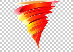 龙卷风风暴大风热带气旋,龙卷风PNG剪贴画橙色,卡通龙卷风,封装的