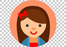 儿童计算机图标阿凡达,用户头像PNG剪贴画孩子,脸,橙色,人民,卡通