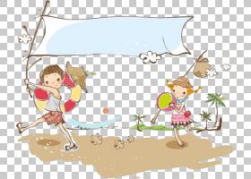 野餐卡通,海滩度假旅行PNG剪贴画儿童,哺乳动物,铅笔,人民,儿童,
