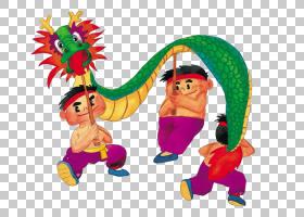龙舞中国新年舞狮元宵节,中国新年龙男孩PNG剪贴画假期,龙,中国风