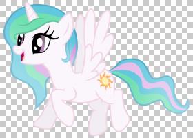 公主Celestia公主Luna Pony Rarity飞过的独角兽,公主PNG剪贴画马